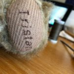 Bespoke embroidery on paw