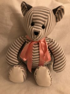 Soft Tactile Bear for lady with dementia